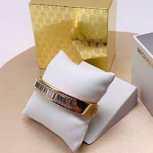 Michael Kors Jewelry - NWT Michael Kors Rose Gold Baguette Bangle Bracele